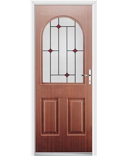 Ultimate Kentucky Rockdoor in Mahogany with Red Diamonds