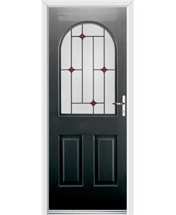Ultimate Kentucky Rockdoor in Onyx Black with Red Diamonds