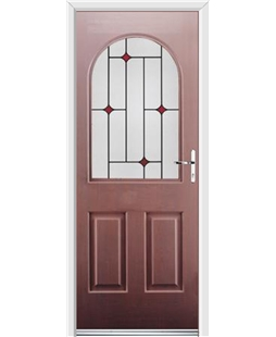 Ultimate Kentucky Rockdoor in Rosewood with Red Diamonds