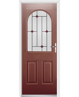 Ultimate Kentucky Rockdoor in Ruby Red with Red Diamonds
