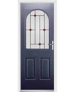 Ultimate Kentucky Rockdoor in Sapphire Blue with Red Diamonds
