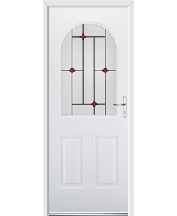 Ultimate Kentucky Rockdoor in White with Red Diamonds