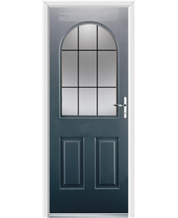 Ultimate Kentucky Rockdoor in Anthracite Grey with Square Lead