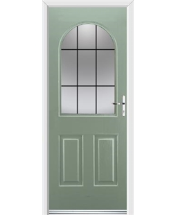 Ultimate Kentucky Rockdoor in Chartwell Green with Square Lead