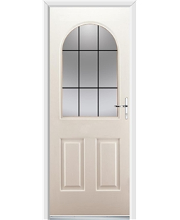 Ultimate Kentucky Rockdoor in Cream with Square Lead