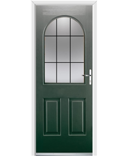 Ultimate Kentucky Rockdoor in Emerald Green with Square Lead