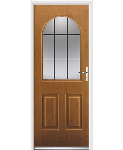 Ultimate Kentucky Rockdoor in Irish Oak with Square Lead