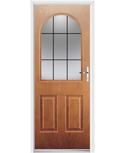 Ultimate Kentucky Rockdoor in Light Oak with Square Lead
