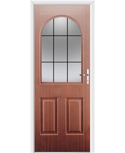 Ultimate Kentucky Rockdoor in Mahogany with Square Lead