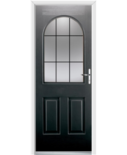 Ultimate Kentucky Rockdoor in Onyx Black with Square Lead