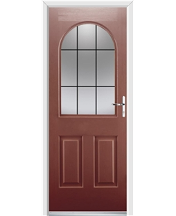 Ultimate Kentucky Rockdoor in Ruby Red with Square Lead