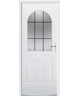 Ultimate Kentucky Rockdoor in White with Square Lead