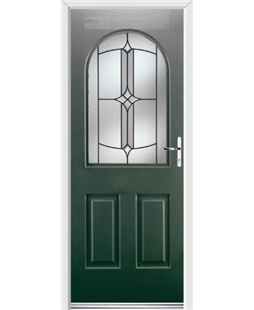 Ultimate Kentucky Rockdoor in Emerald Green with Summit Glazing