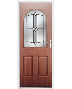 Ultimate Kentucky Rockdoor in Mahogany with Summit Glazing