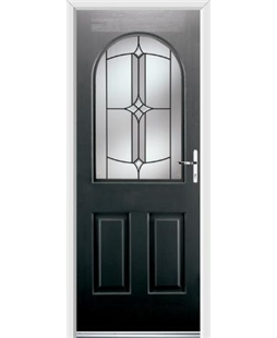 Ultimate Kentucky Rockdoor in Onyx Black with Summit Glazing