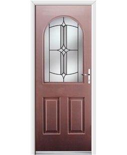 Ultimate Kentucky Rockdoor in Rosewood with Summit Glazing
