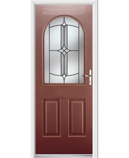 Ultimate Kentucky Rockdoor in Ruby Red with Summit Glazing