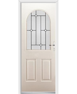 Ultimate Kentucky Rockdoor in Cream with White Diamonds