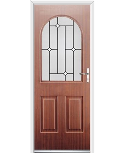 Ultimate Kentucky Rockdoor in Mahogany with White Diamonds