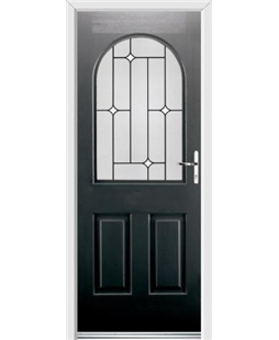 Ultimate Kentucky Rockdoor in Onyx Black with White Diamonds