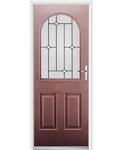 Ultimate Kentucky Rockdoor in Rosewood with White Diamonds