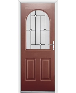 Ultimate Kentucky Rockdoor in Ruby Red with White Diamonds
