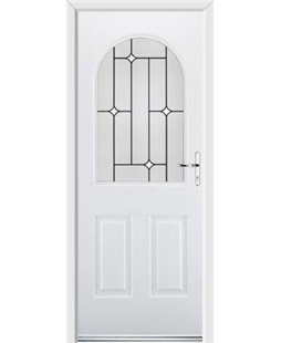 Ultimate Kentucky Rockdoor in White with White Diamonds