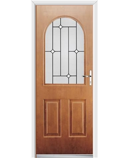 Ultimate Kentucky Rockdoor in Light Oak with White Diamonds