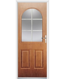 Ultimate Kentucky Rockdoor in Light Oak with White Georgian Bar