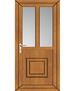 Kirkham Raised 2 Glazed uPVC Door in Oak