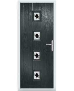 The Uttoxeter Composite Door in Grey (Anthracite) with Black Diamonds