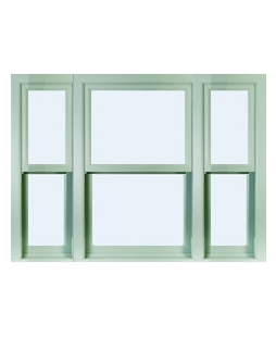 Tyne and Wear uPVC Sliding Sash Window in Chartwell Green