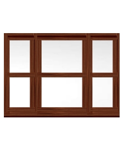 Tyne and Wear uPVC Sliding Sash Window in Rosewood