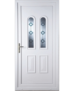 Northampton Blue Border Bevel uPVC Door