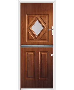 Ultimate Stable Diamond Rockdoor in Light Oak with Glazing