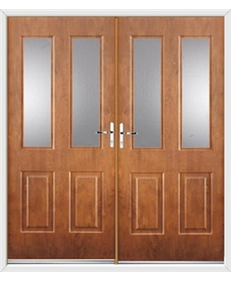 Jacobean French Rockdoor in Light Oak with Glazing