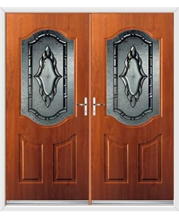 Georgia French Rockdoor in Light Oak with Constellation Glazing