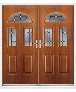 Tennessee French Rockdoor in Light Oak with Crystal Bevel
