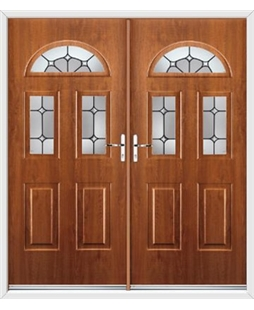 Tennessee French Rockdoor in Light Oak with Ellipse