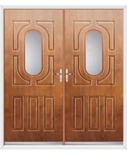 Arcacia French Rockdoor in Light Oak with Glazing