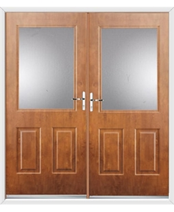 Windsor French Rockdoor in Light Oak with Glazing