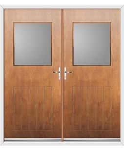 Cottage View Light French Rockdoor in Light Oak with Glazing