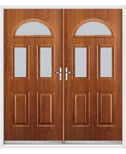 Tennessee French Rockdoor in Light Oak with Glazing