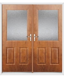 Windsor French Rockdoor in Light Oak with Gluechip Glazing