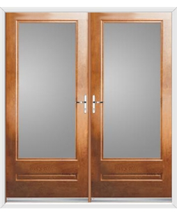 Classic French Rockdoor in Light Oak with Glazing