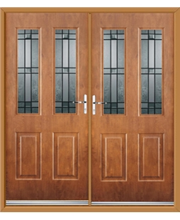 Jacobean French Rockdoor in Light Oak with Apollo
