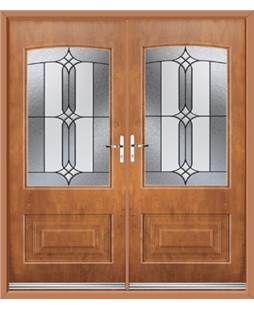 Portland French Rockdoor in Light Oak with Apostle Glazing