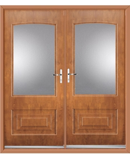 Portland French Rockdoor in Light Oak with Glazing