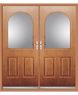 Kentucky French Rockdoor in Light Oak with Glazing