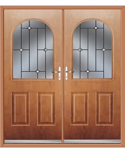Kentucky French Rockdoor in Light Oak with Crystal Bevel